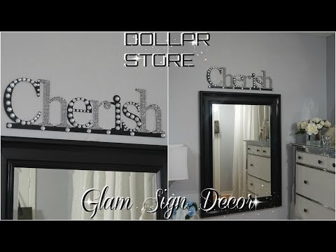 DIY DOLLAR STORE  QUICK & EASY WALL DECOR  GLAM DECOR IDEA  PETALISBLESS