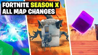 Season X Map Updates and Hidden Secrets! WEEK 4 (Fortnite)