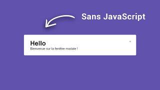 Créer une fenêtre modale SANS JavaScript (Facile - HTML et CSS)