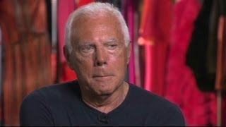 Giorgio Armani on how he tries to stay ahead of the curve
