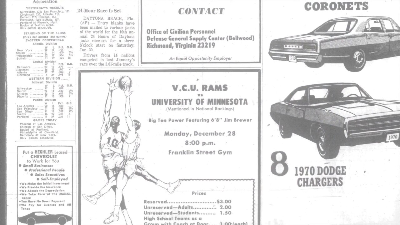 Top Moments VCU upsets Minnesota in 1970 - YouTube