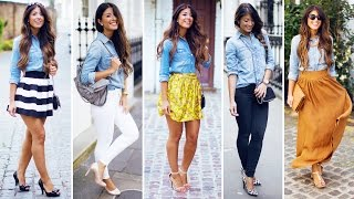 Denim Shirt | 5 Ways