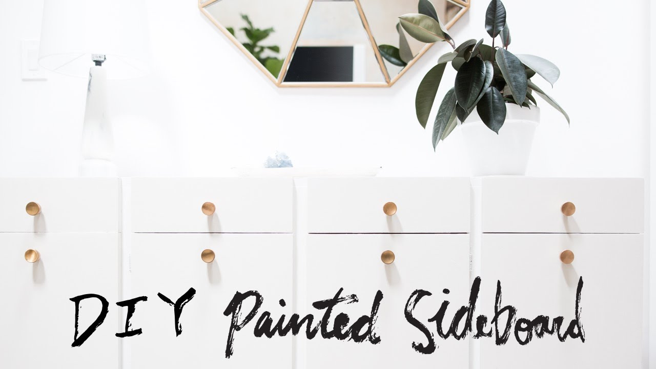 DIY Painted Wood Sideboard from Basic to Sophisticated! | Upcycl'd by Mr Kate | Interior Design