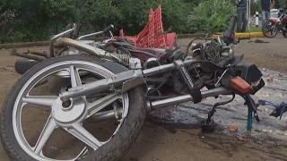 Motociclista grave al Hospital después de chocar contra camión