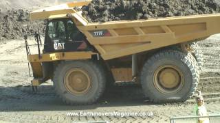 180-tonne Cat 777F dump truck emergency stop