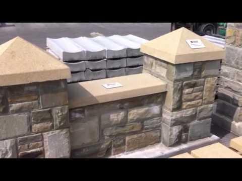 O' Hora Pre-Cast Concrete reconstituted sandstone Pier & Wall Caps.