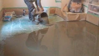 Concrete Subfloor Preparation For The Vinyl Floor Installation
