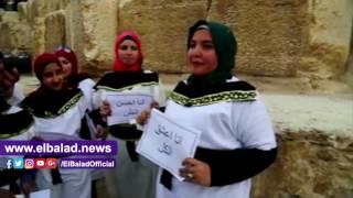 انطلاق مسيرة «في حب مصر» بالزي الفرعوني في الأهرامات.. صوروفيديو