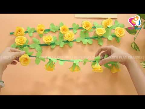 DIY PAPER ROSE  | How to Make Rose With Paper Crafts Yellow Color