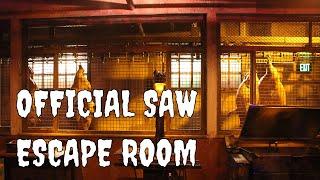 Saw Escape Room Las Vegas Jason Egan and Tobin Bell Interview