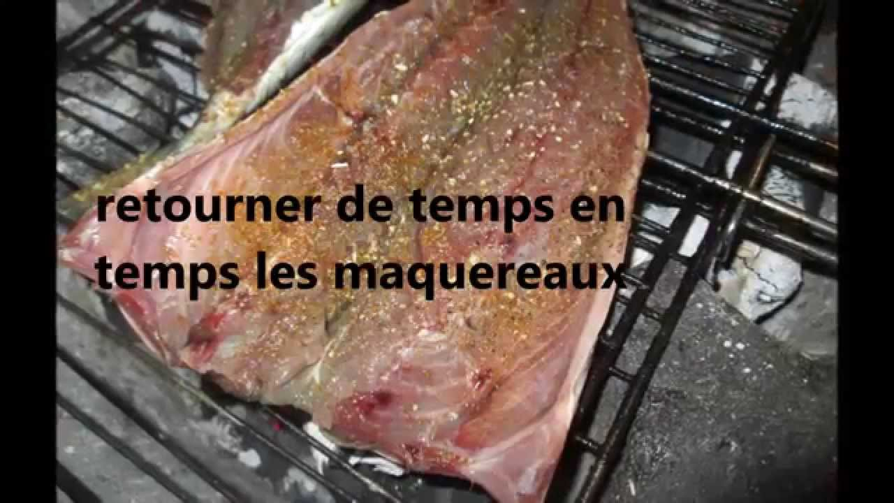 maquereaux grillés à la marocain, maquereaux au barbecue - youtube