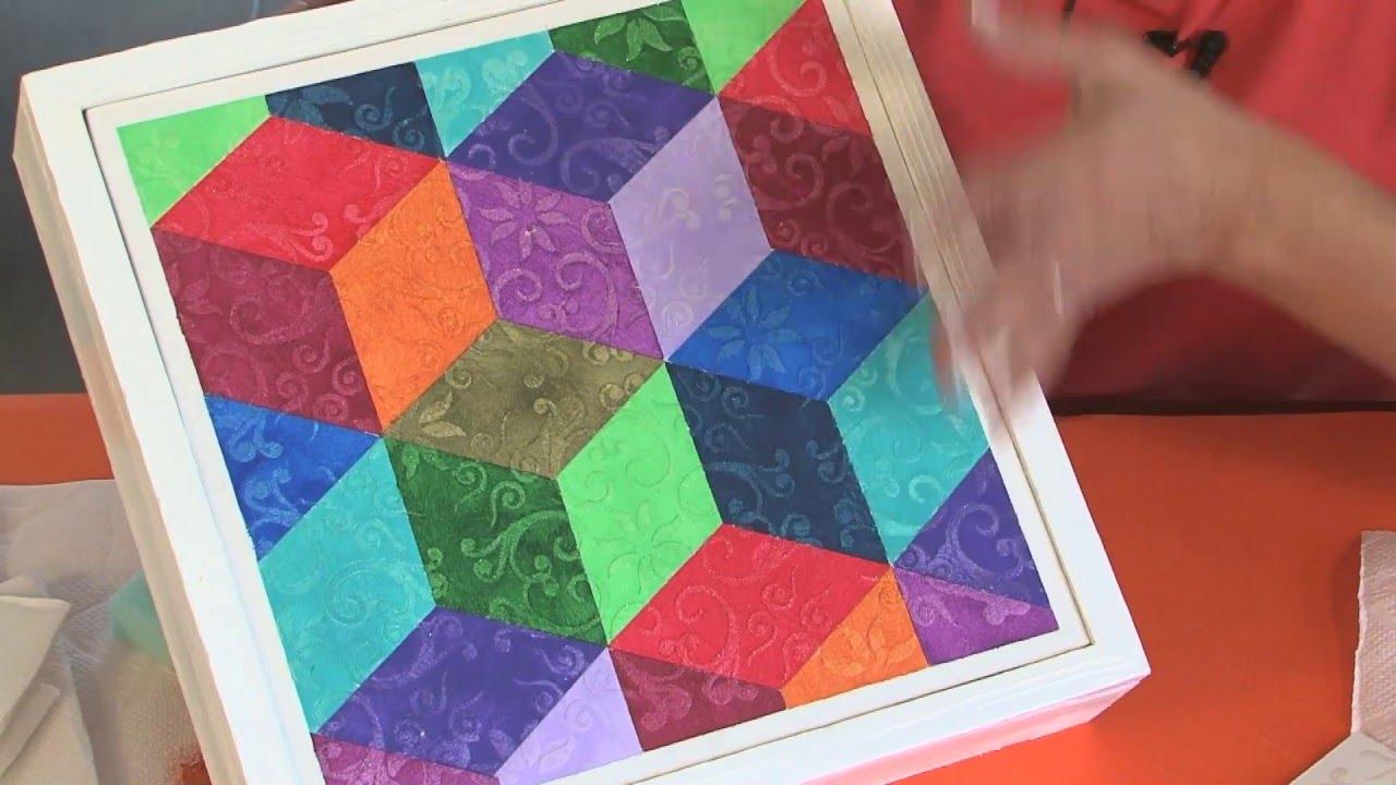 Cuadros geometricos con texturas imitacion brocato for Cuadros con formas geometricas