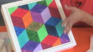 Cuadros Geometricos con Texturas - Imitacion Brocato - Lidia Gonzalez Varela