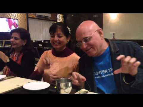 laughter yoga at restaurant in Bangalore