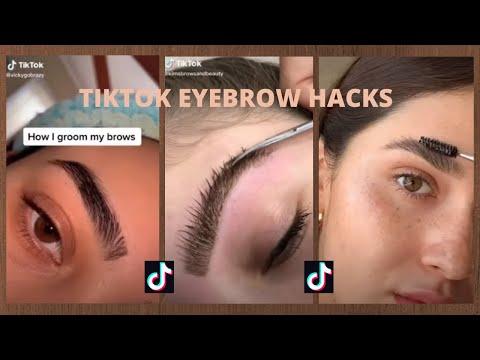 TIKTOK EYEBROW HACKS AND TUTORIALS   Aesthetic eyebrow tutorials tiktok compilation (2020)