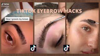 TIKTOK EYEBROW HACKS AND TUTORIALS | Aesthetic eyebrow tutorials tiktok compilation (2020)