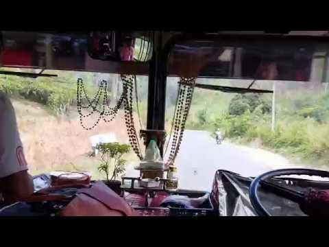 Kataragama to Kandy Sri Lanka Bus view