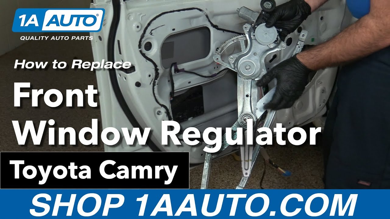 hight resolution of how to replace front window regulator 06 11 toyota camry