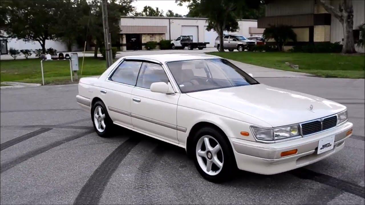 1991 Nissan Laurel Medalist White Youtube