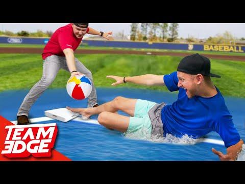 Slip N Slide Beachball Baseball!!