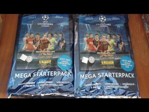 MEGA STARTER PACK panini adrenalyn xl uefa champions league 2013/2014 opening & review
