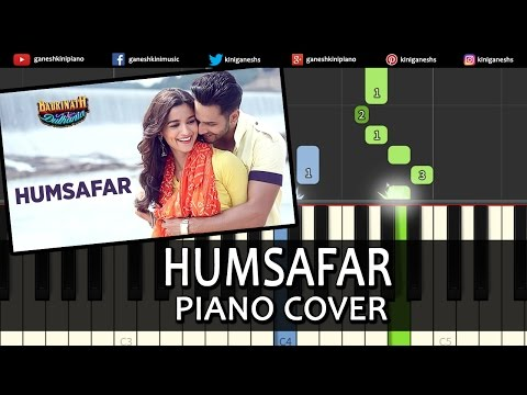 Humsafar Badrinath Ki Dulhania|Hindi Song|Varun Dhawan Alia Bhatt|Piano Chords Tutorial Instrumental