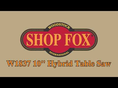 Shop Fox W1837 10 2 Hp Open Stand Hybrid Table Saw Youtube