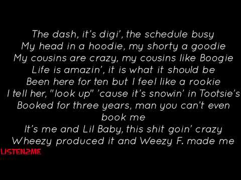 """Drake And Lil Baby """"Yes Indeed"""" (Official Lyrics Video)"""