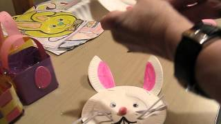 Fun Paper Plate Easter Bunny Craft!