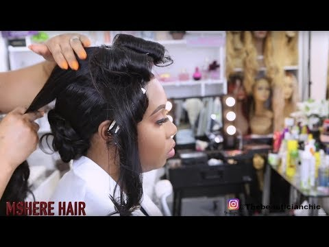 SIMPLE NATURAL BRIDAL HAIR AND MAKEUP TRANSFORMATION |MSHERE HAIR