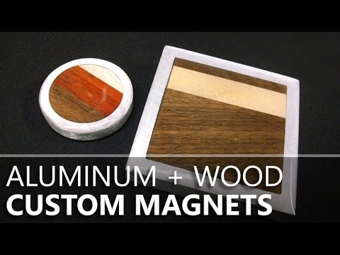 Making Hardwood & Aluminum Magnets from a Hard Drive
