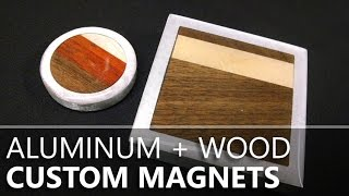 Hardwood & Aluminum Magnets from a Hard Drive