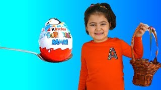 Elif Öykü and dog Surprise Eggs with Cute game - Funny Kids Video