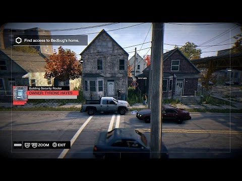 Watch Dogs - Not A Job For Tyrone: Find Bedbug's House & Install A Bug On His Phone Sequence PS4