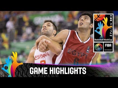 Spain v Egypt - Game Highlights - Group A - 2014 FIBA Basketball World Cup