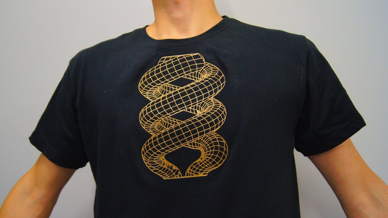 Awesome 3d printed t shirt design youtube for T shirt printing design online