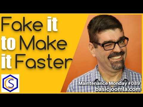 Improve Your Joomla Page Load Speed With This Simple Trick 🛠 Maintenance Monday Live Stream #089