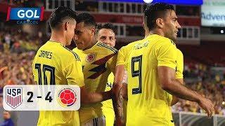 Estados Unidos vs Colombia (2-4), vea el resumen del partido jugado en Tampa
