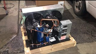 Change out a condensing unit and convert to R404A