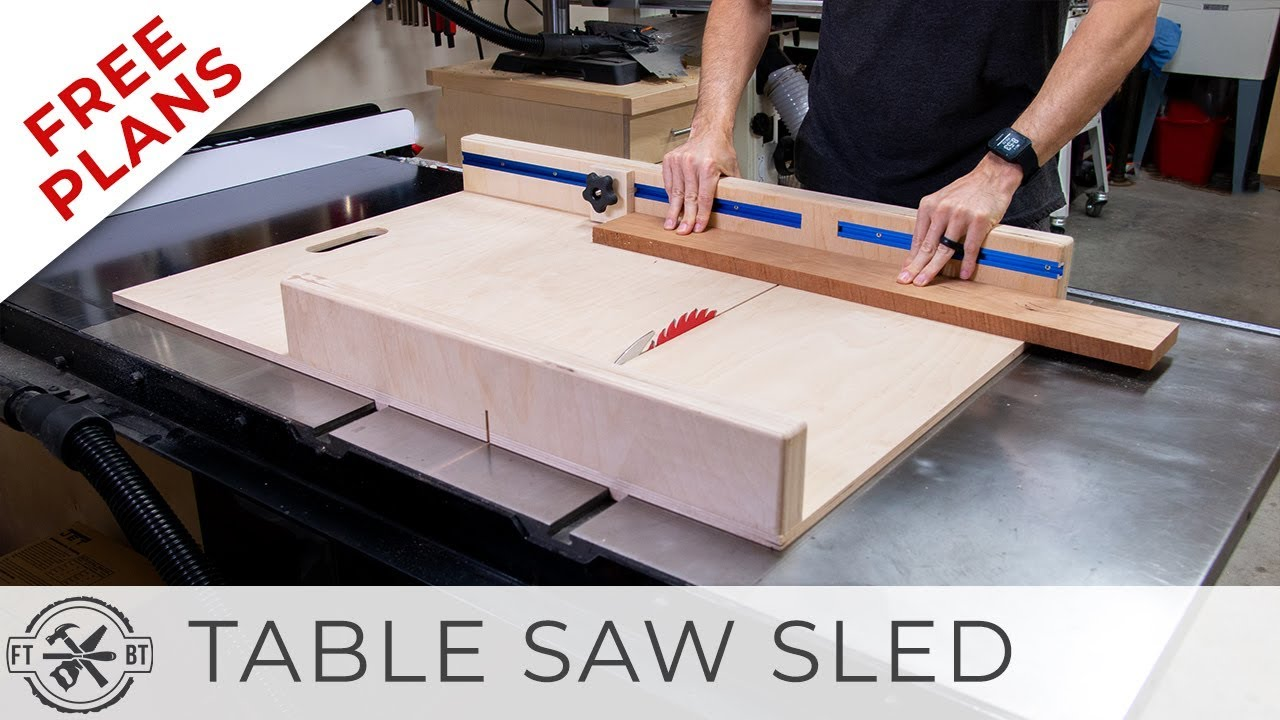 Simple Table Saw Sled with FREE Plans | DIY Woodworking ...