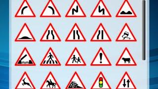 code de la route version française panneaux signaux de danger + panneaux d'interdiction