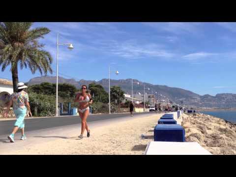 Busty jogging