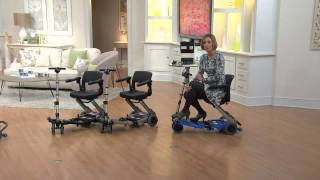 The Luggie Portable Foldable Mobility Scooter with Sandra Bennett