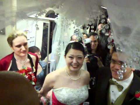 Wedding in SEPTA T line...