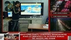 QRT: Bagyong Santi, inaasahang magla-landfall sa Aurora bukas