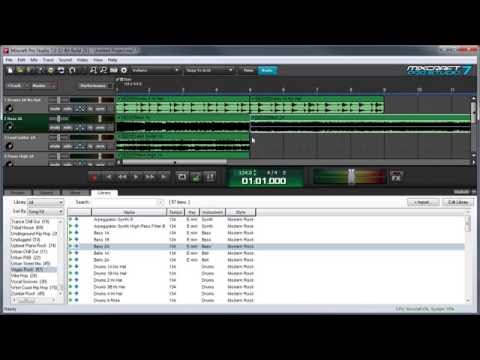 Mixcraft 7 Loops & Library: Composing A Song With Loops