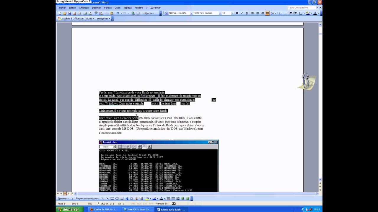 Astuce informatique comment convertir un fichier pdf en - Convertir fichier pdf en open office ...
