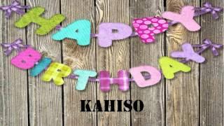 Kahiso   wishes Mensajes