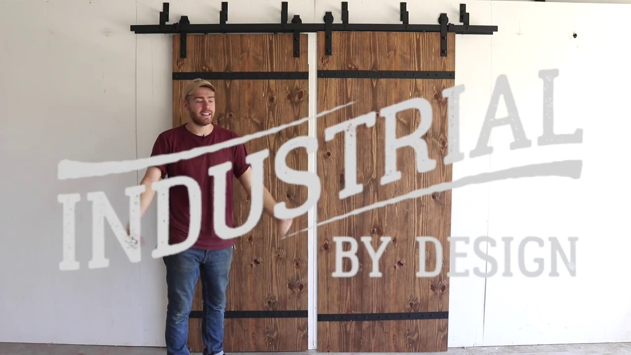 Step By Step Double Bypass Barn Door Hardware Installation   Industrial By  Design