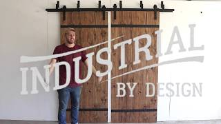 Step-By-Step Double Bypass Barn Door Hardware Installation - Industrial By Design